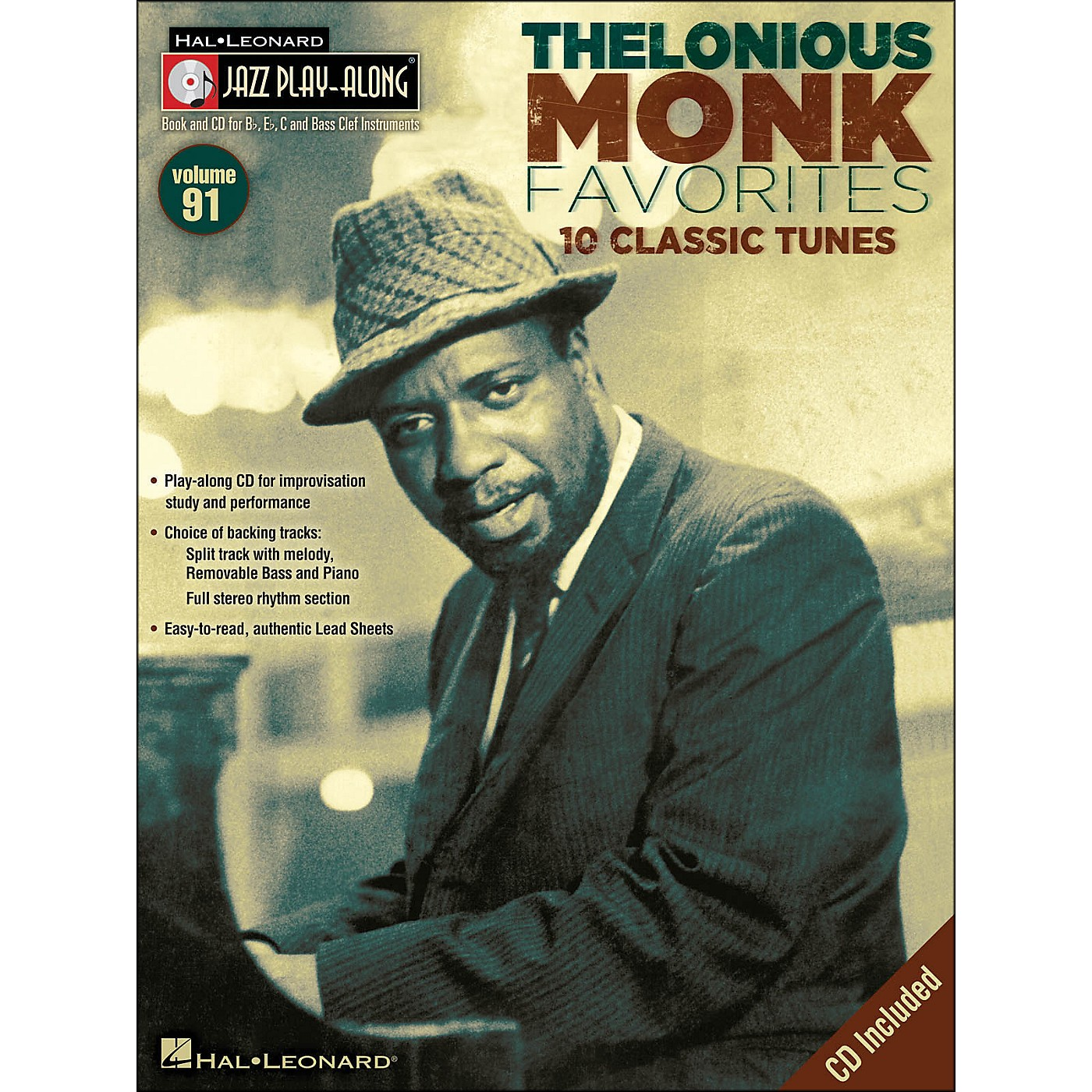 Hal Leonard Thelonious Monk Favorites - Jazz Play-Along Volume 91 CD/Pkg thumbnail