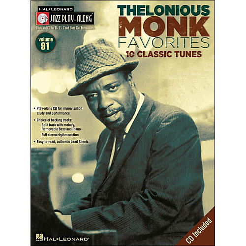 Hal Leonard Thelonious Monk Favorites - Jazz Play-Along Volume 91 CD/Pkg thumbnail