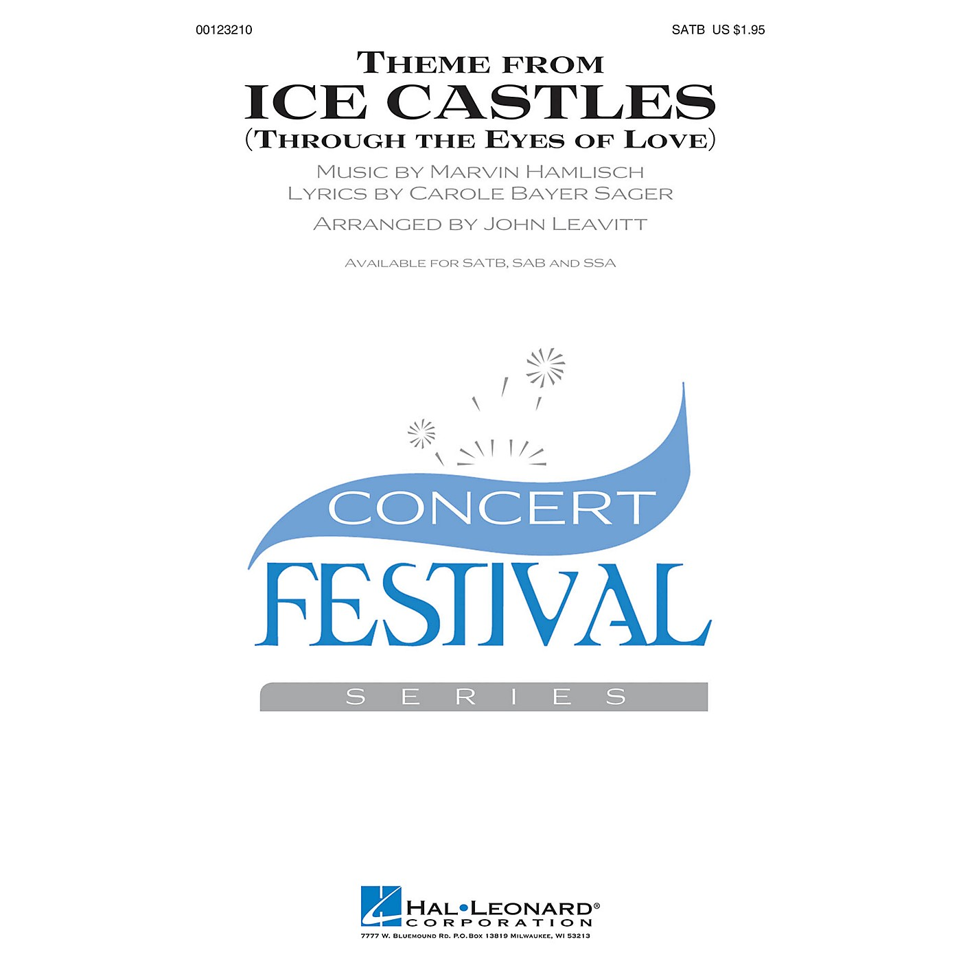 Hal Leonard Theme from Ice Castles (Through the Eyes of Love) SSA by Melissa Manchester Arranged by John Leavitt thumbnail