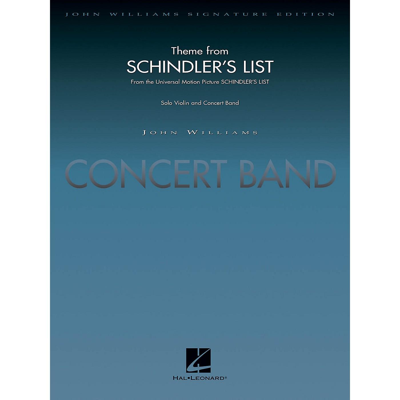 Hal Leonard Theme from Schindler's List (Deluxe Score) Concert Band Level 5 Arranged by John Moss thumbnail