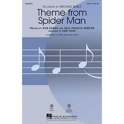 Hal Leonard Theme from Spider Man SAB by Michael Bublé Arranged by Kirby Shaw thumbnail
