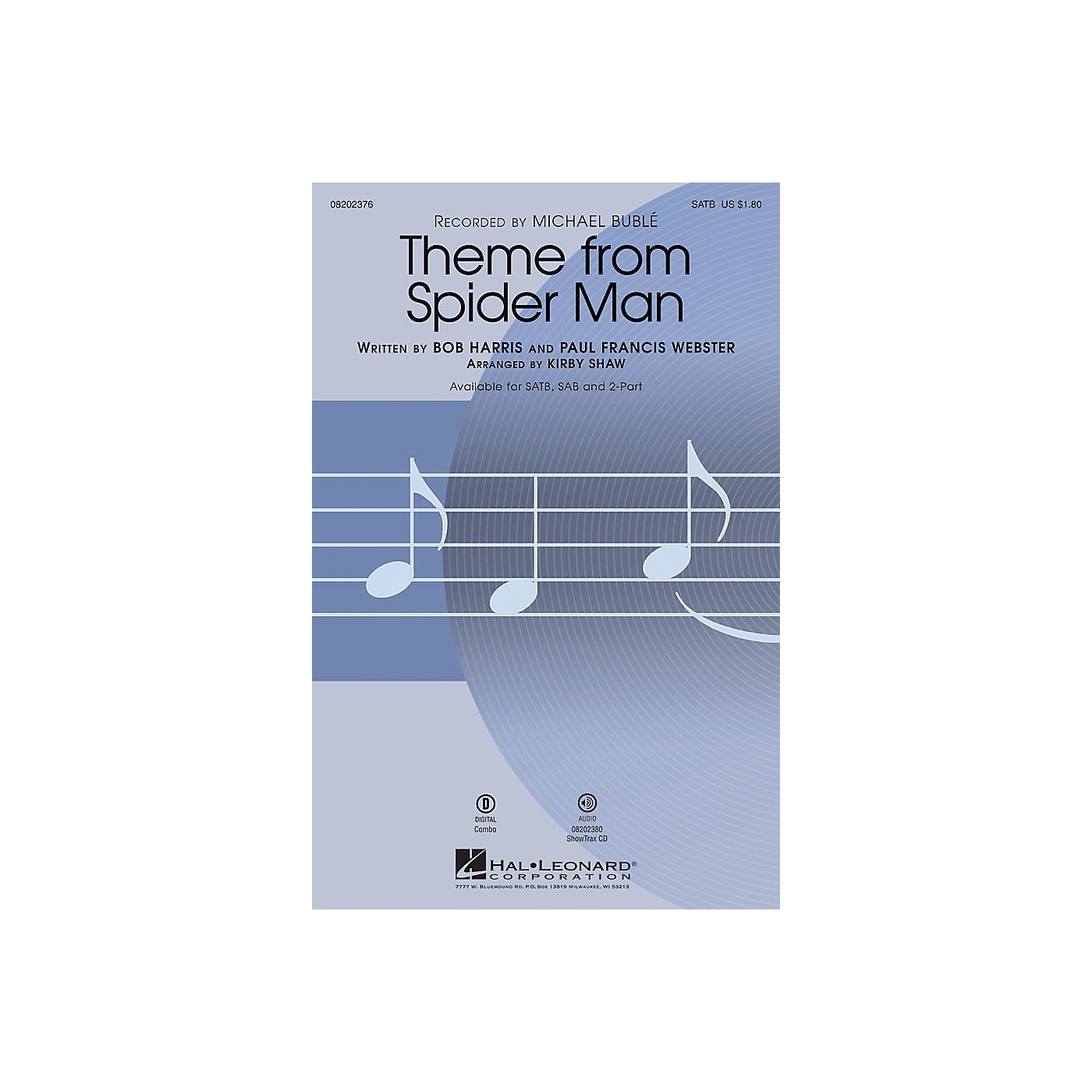 Hal Leonard Theme from Spider Man SATB by Michael Bublé arranged by Kirby Shaw thumbnail