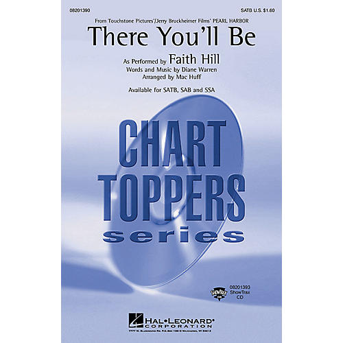 Hal Leonard There You'll Be (from Pearl Harbor) (ShowTrax CD) ShowTrax CD by Faith Hill Arranged by Mac Huff thumbnail