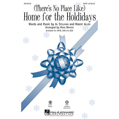 Hal Leonard (There's No Place Like) Home for the Holidays SSA Arranged by Mark Brymer thumbnail