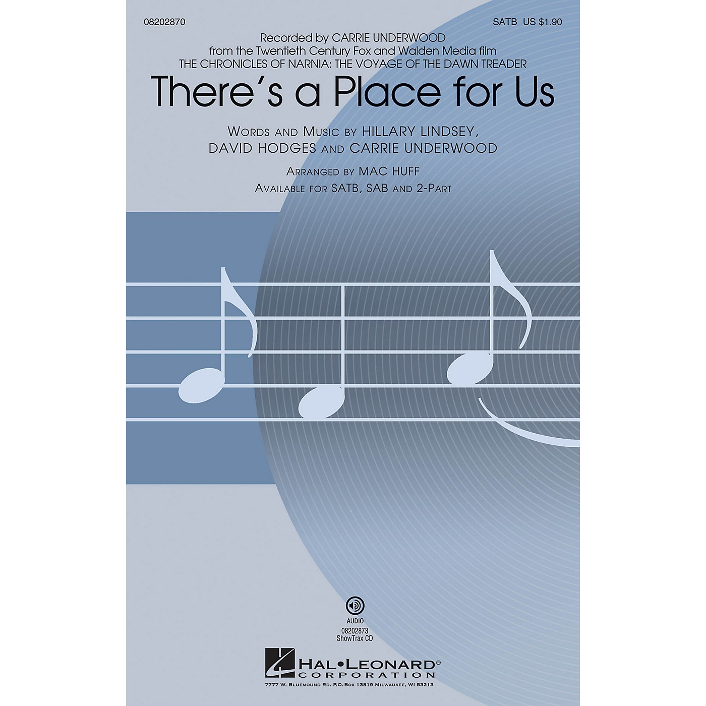 Hal Leonard There's a Place for Us 2-Part by Carrie Underwood Arranged by Mac Huff thumbnail