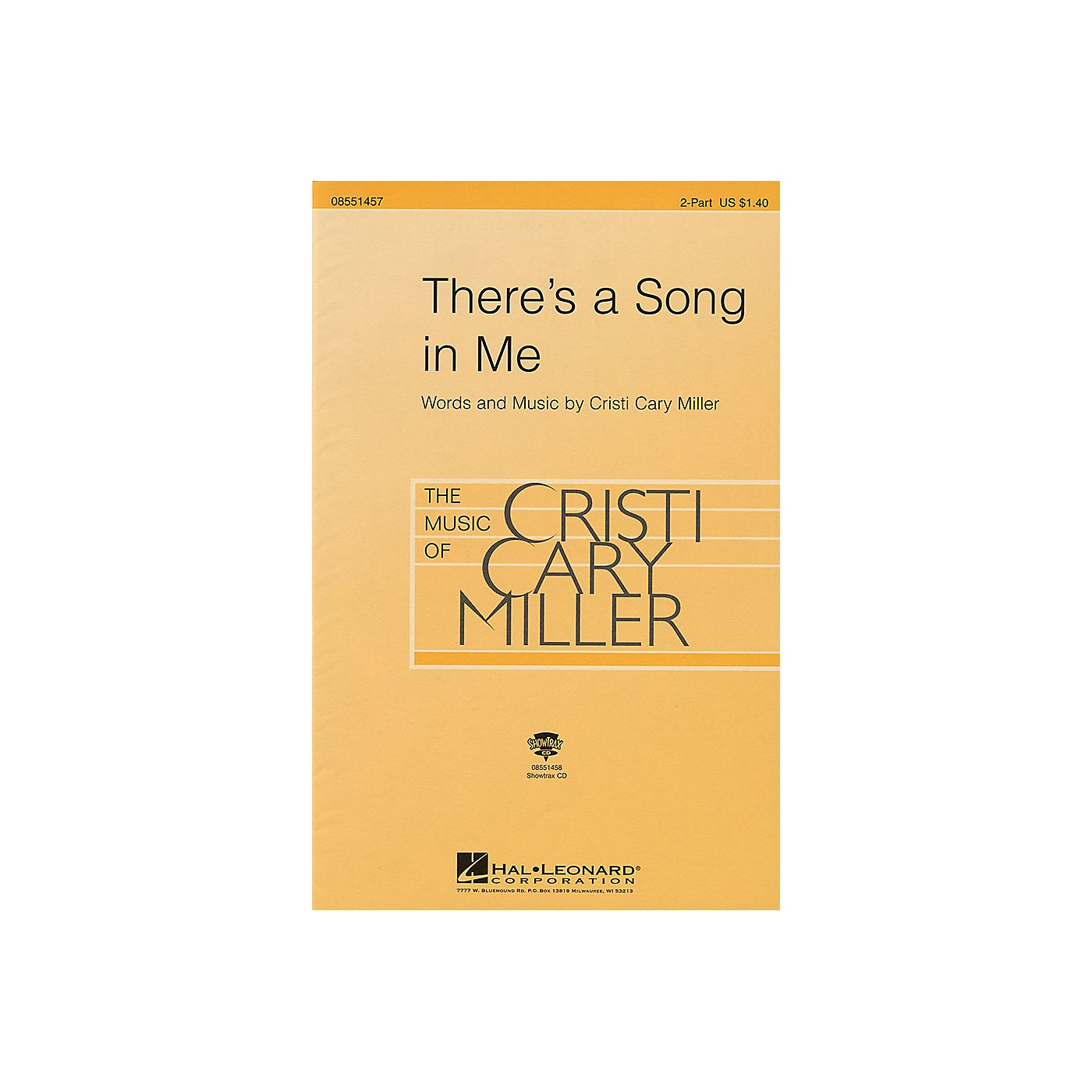 Hal Leonard There's a Song in Me ShowTrax CD Composed by Cristi Cary Miller thumbnail