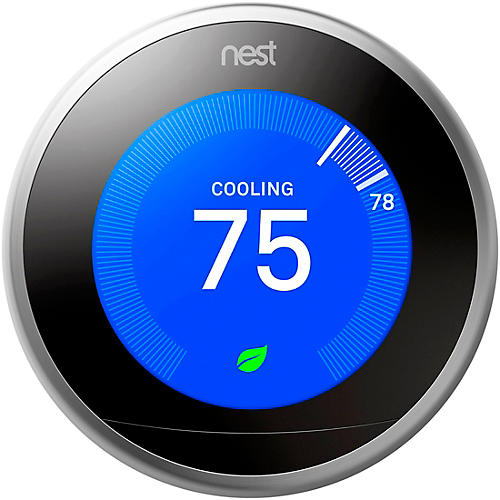Nest Thermostat, Stainless Steel thumbnail