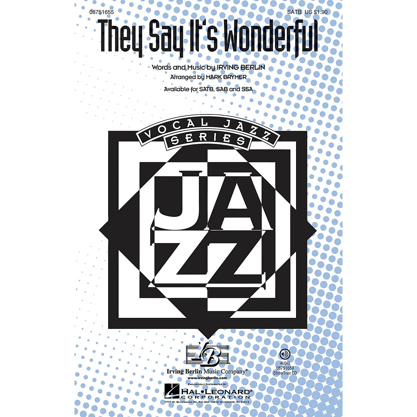 Hal Leonard They Say It's Wonderful (from Annie Get Your Gun) SAB Arranged by Mark Brymer thumbnail