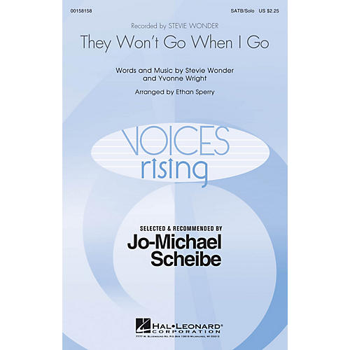 Hal Leonard They Won't Go When I Go (Selected by Jo-Michael Scheibe) SATB Chorus and Solo by Stevie Wonder arranged by Ethan Sperry thumbnail