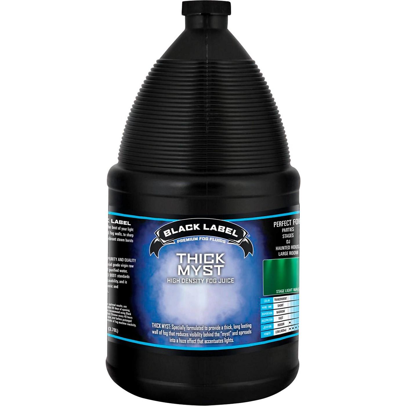 Black Label Thick Myst High Density Fog Juice - 1 Gallon thumbnail