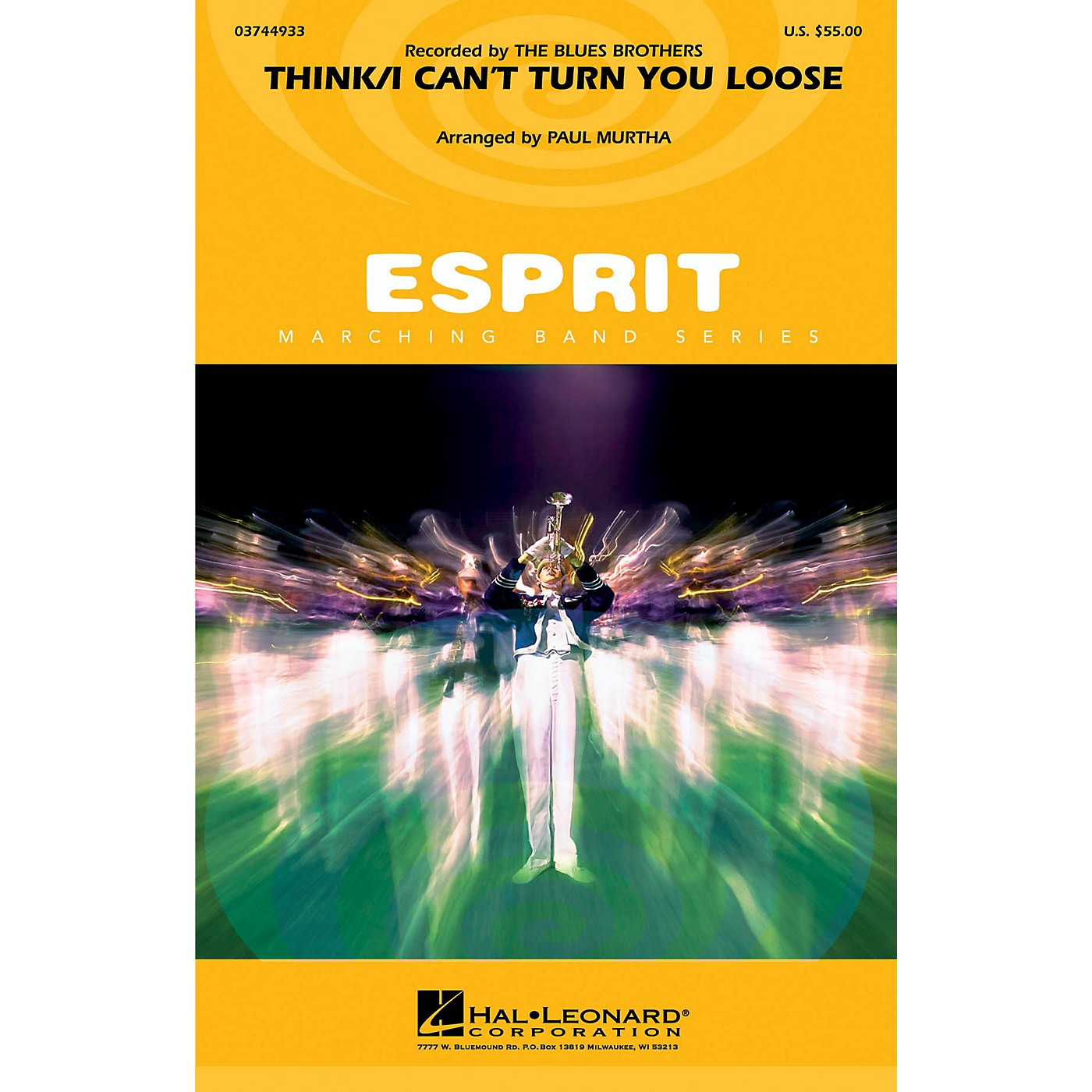 Hal Leonard Think/I Can't Turn You Loose (Recorded by The Blues Brothers) Marching Band Level 3 by Paul Murtha thumbnail