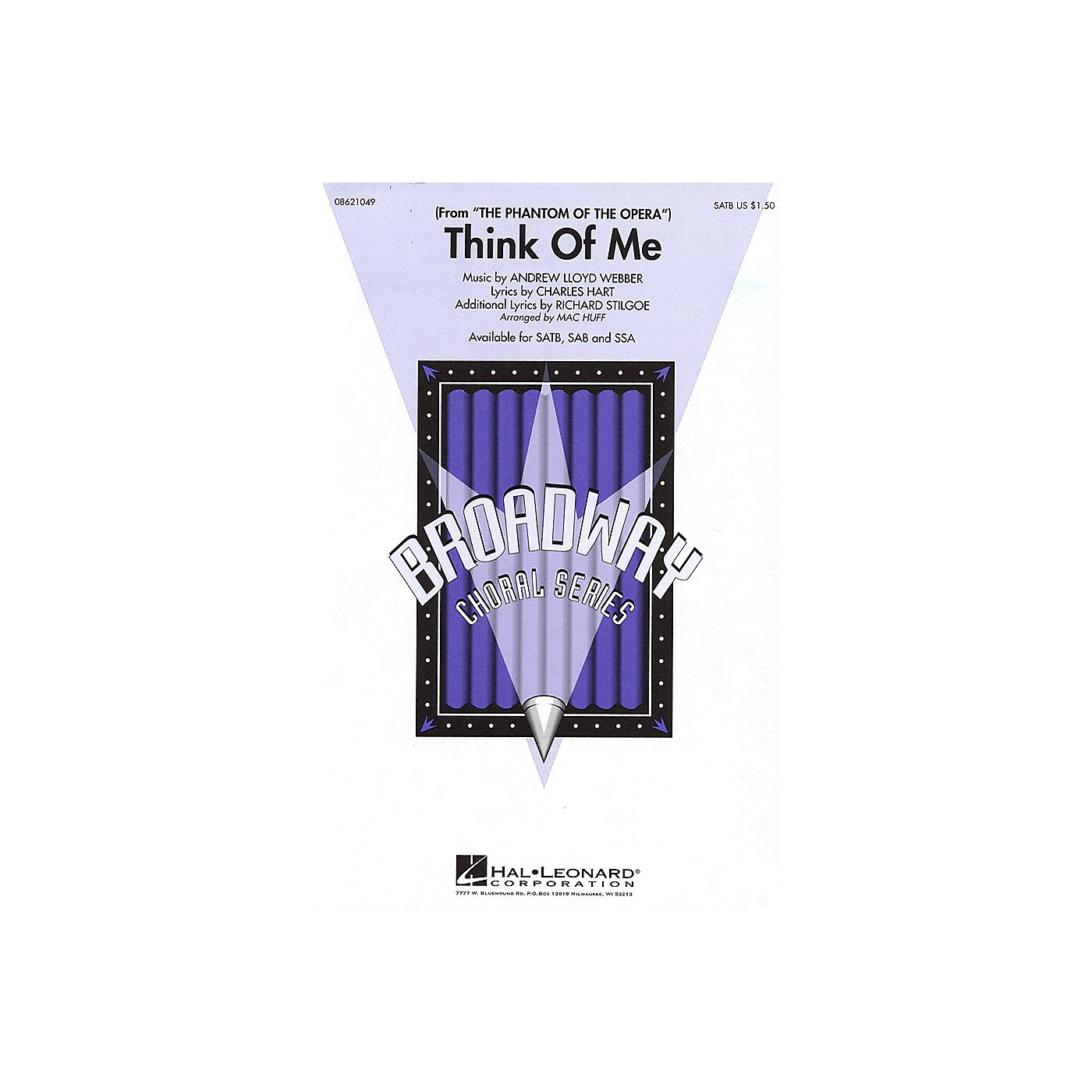 Hal Leonard Think of Me (from The Phantom of the Opera) SAB Arranged by Mac Huff thumbnail