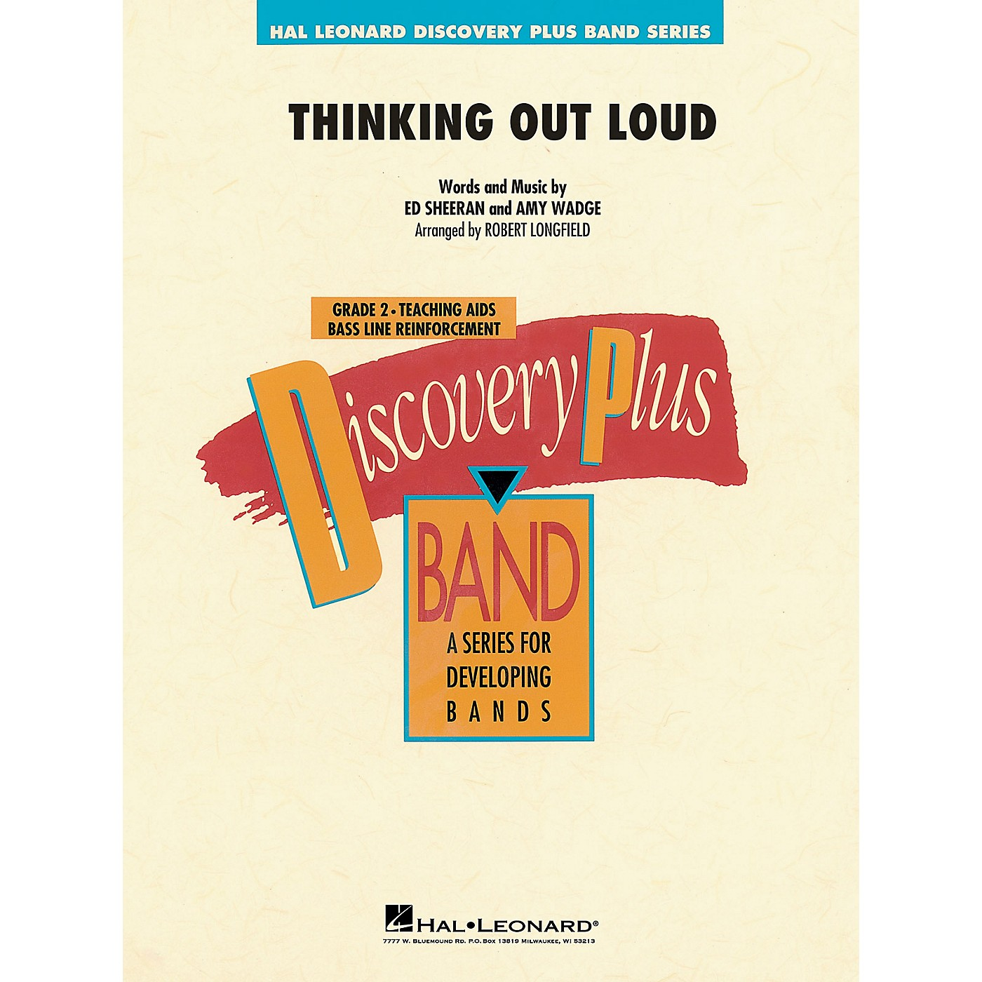 Hal Leonard Thinking Out Loud Concert Band Level 2 by Ed Sheeran arranged by Robert Longfield thumbnail
