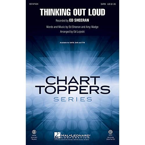 Hal Leonard Thinking Out Loud SAB by Ed Sheeran Arranged by Ed Lojeski thumbnail