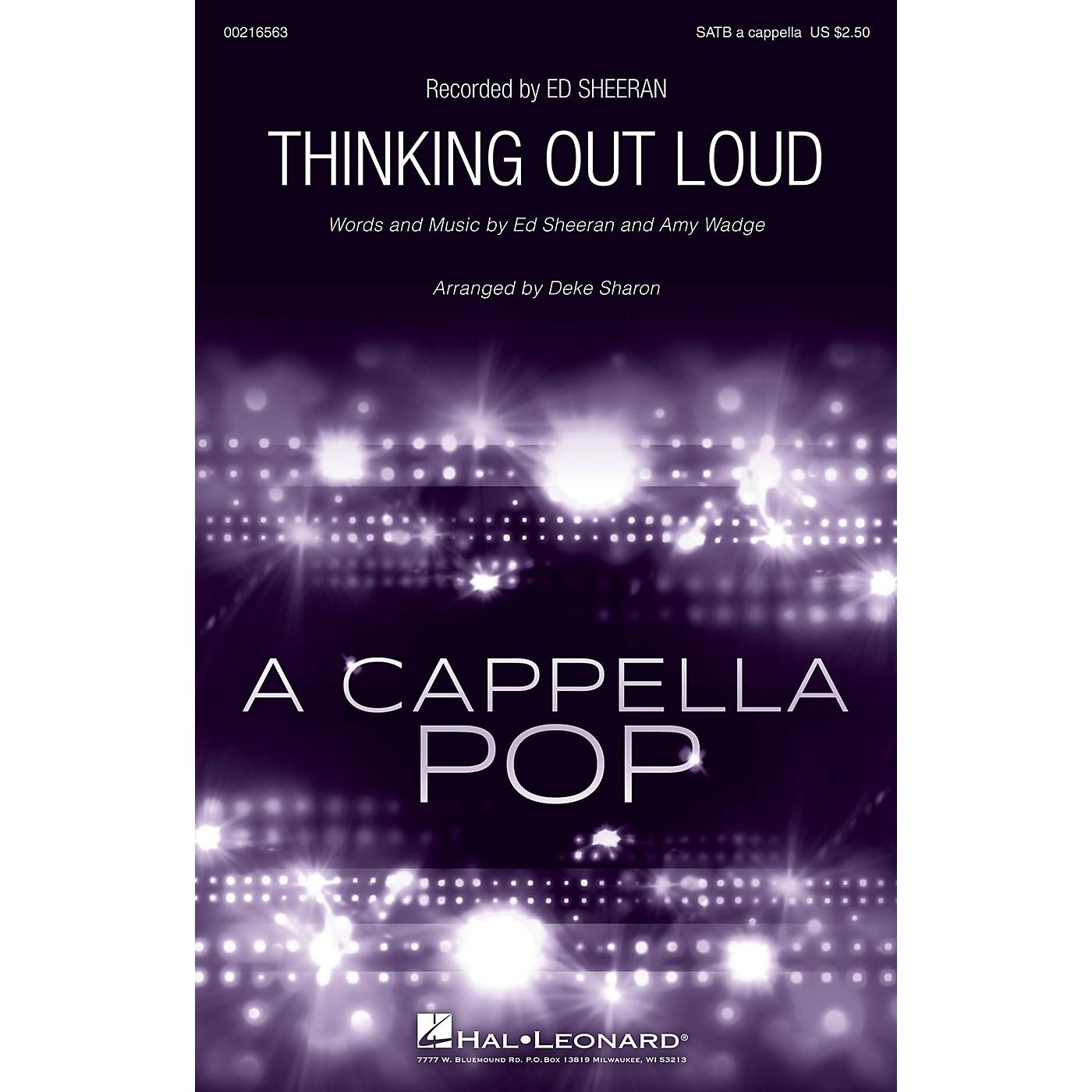 Hal Leonard Thinking Out Loud SATB a cappella by Ed Sheeran arranged by Deke Sharon thumbnail