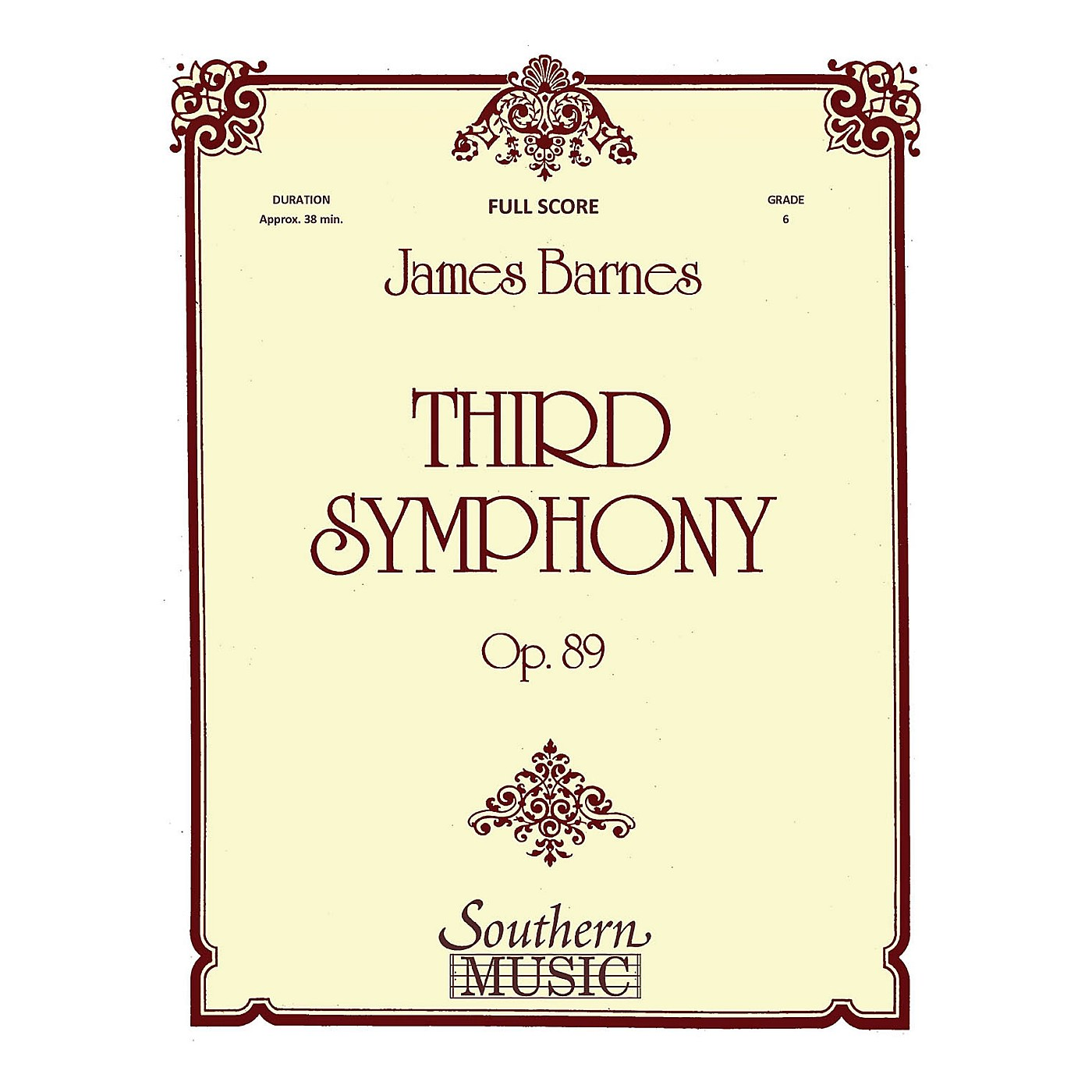 Southern Third Symphony (European Parts) Concert Band Level 6 Composed by James Barnes thumbnail
