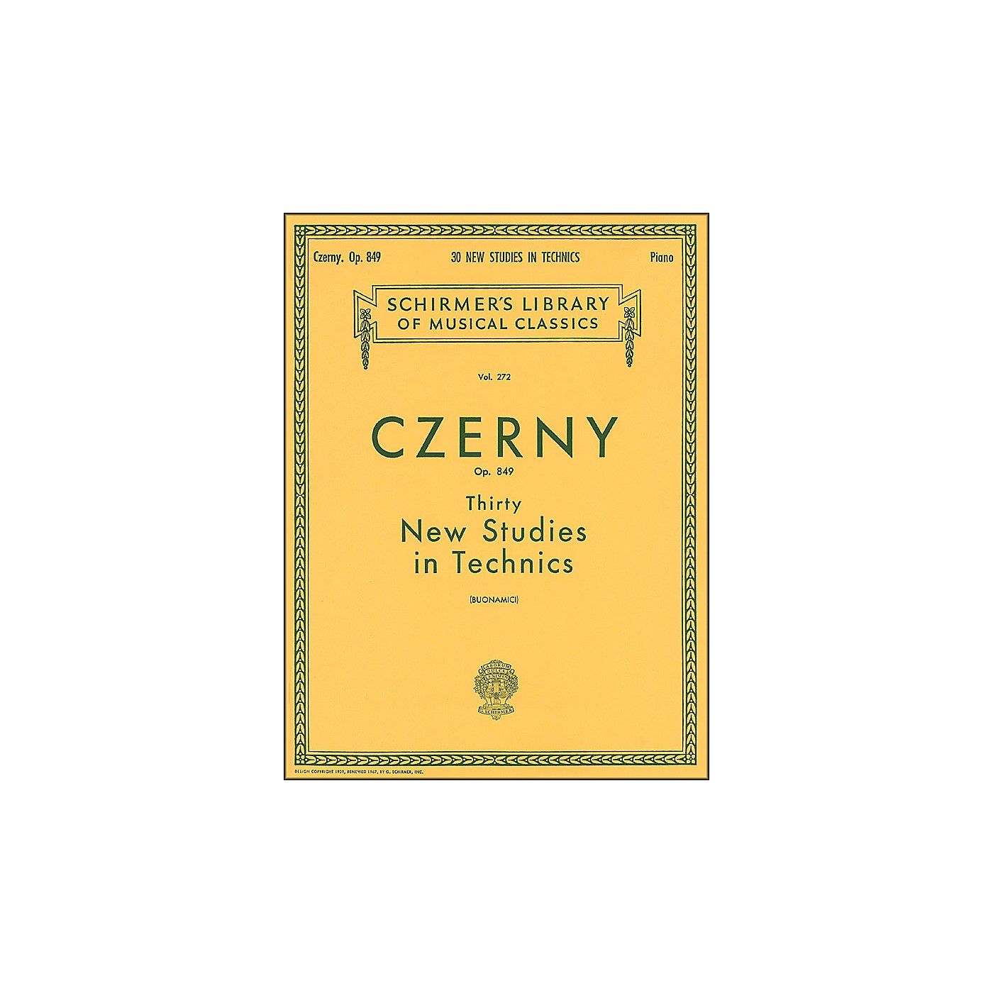 G. Schirmer Thirty New Studies In Technics Op 849 Etudes De Mecanisme 30 By Czerny thumbnail