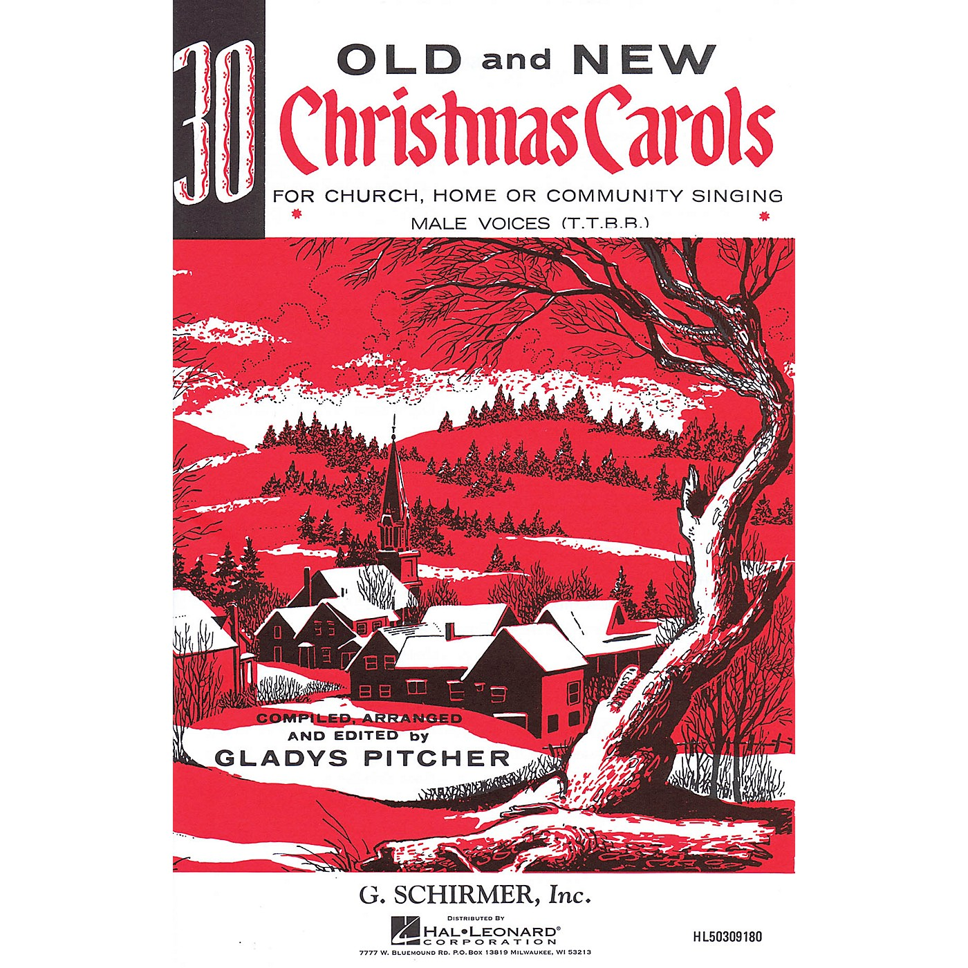 G. Schirmer Thirty Old and New Christmas Carols TTBB composed by Various thumbnail