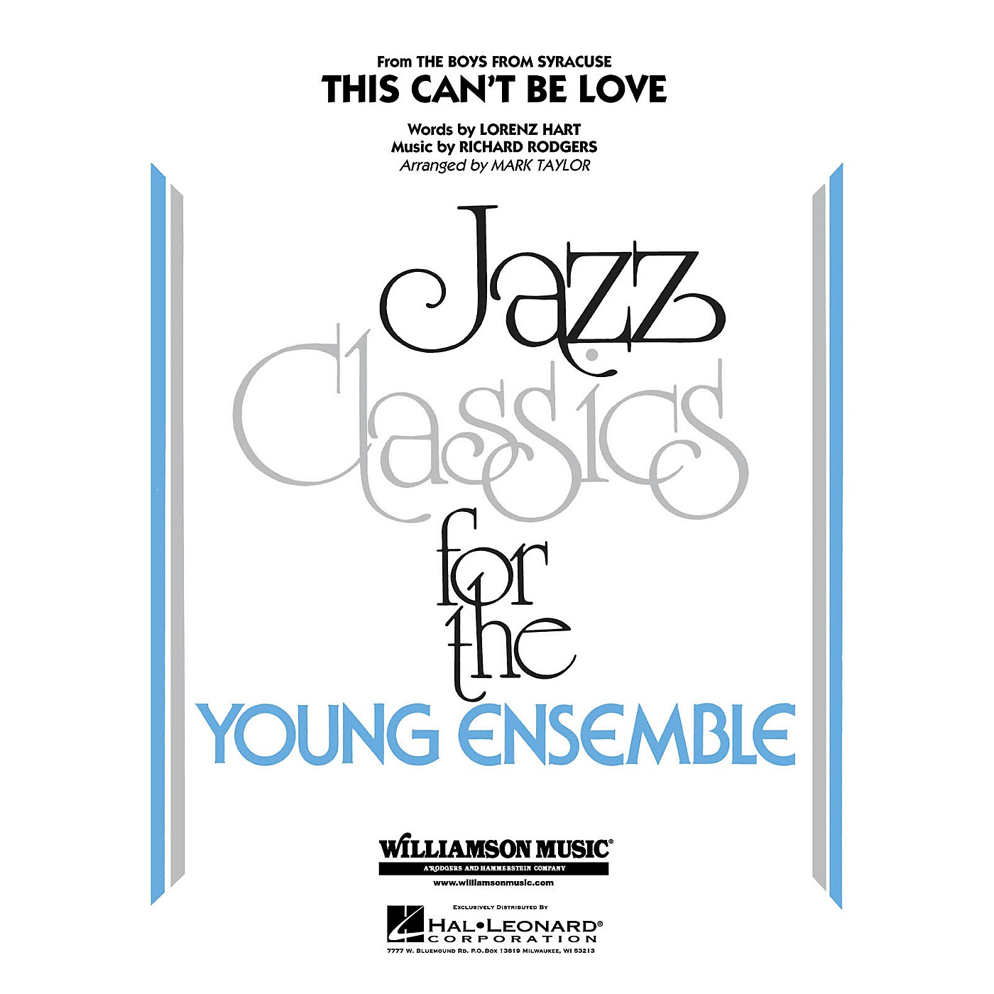 Hal Leonard This Can't Be Love Jazz Band Level 3 Arranged by Mark Taylor thumbnail