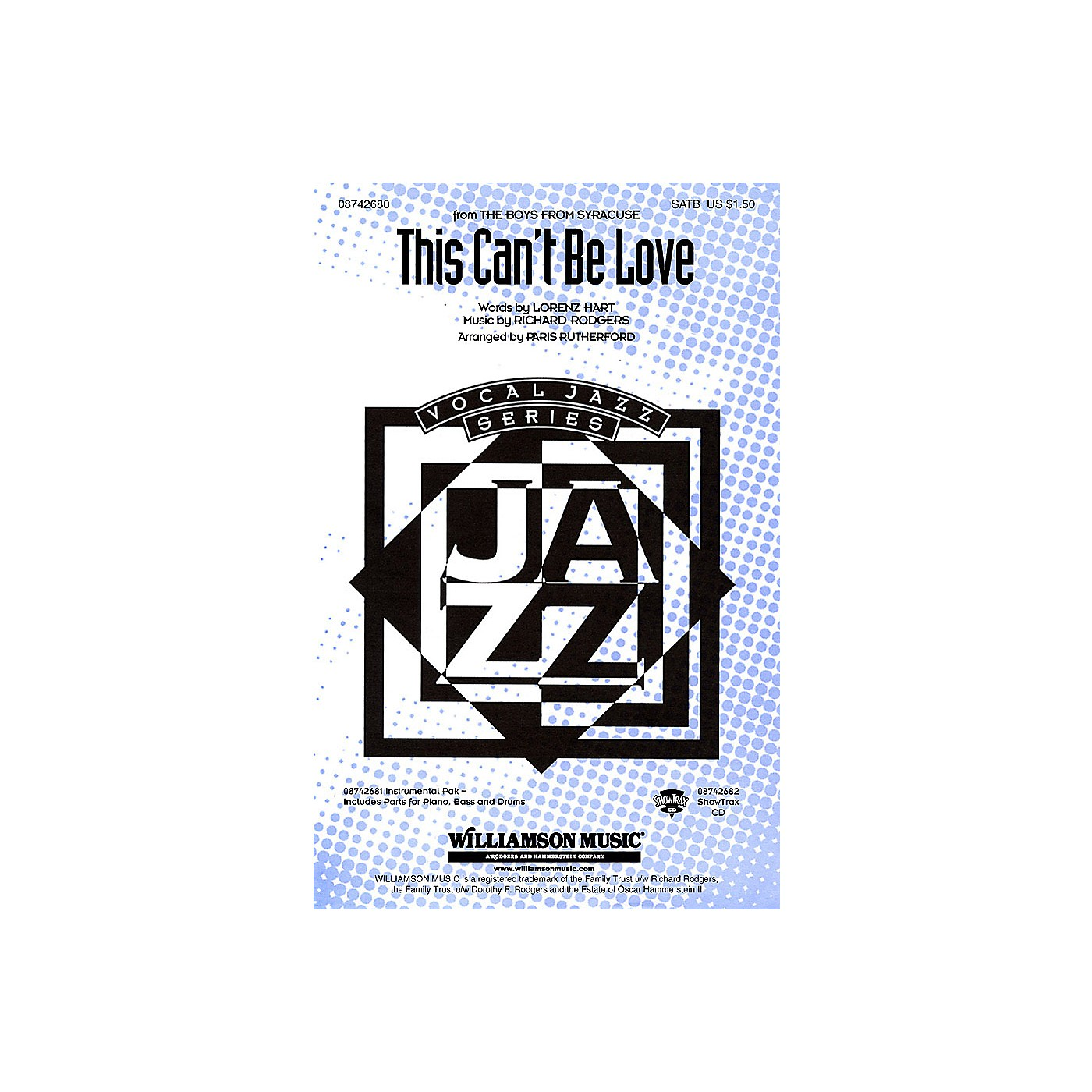 Hal Leonard This Can't Be Love (from The Boys from Syracuse) SATB arranged by Paris Rutherford thumbnail