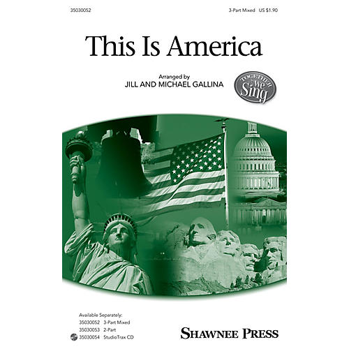 Shawnee Press This Is America Studiotrax CD Arranged by Jill Gallina thumbnail