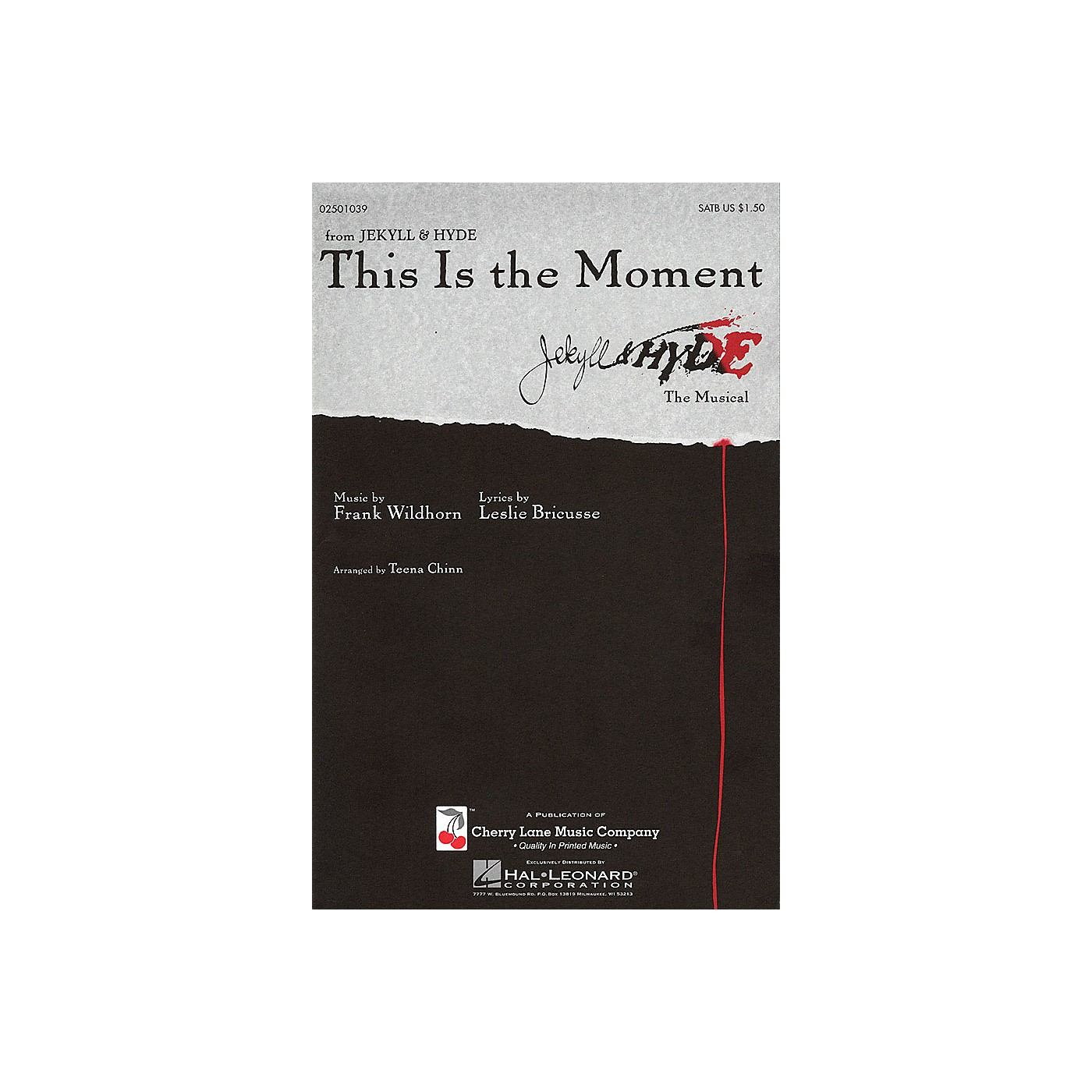 Cherry Lane This Is the Moment SATB arranged by Teena Chinn thumbnail