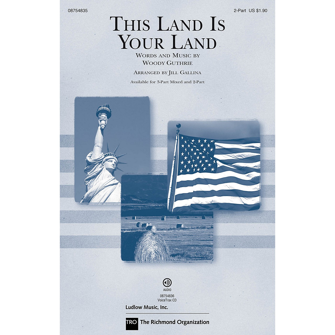 Hal Leonard This Land Is Your Land (Discovery Level 1) 2-Part arranged by Jill Gallina thumbnail