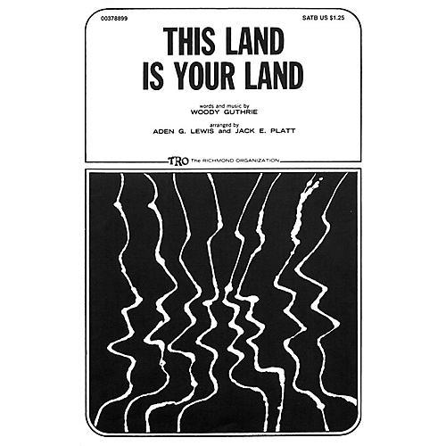 TRO ESSEX Music Group This Land Is Your Land TTBB Arranged by Jack E. Platt thumbnail