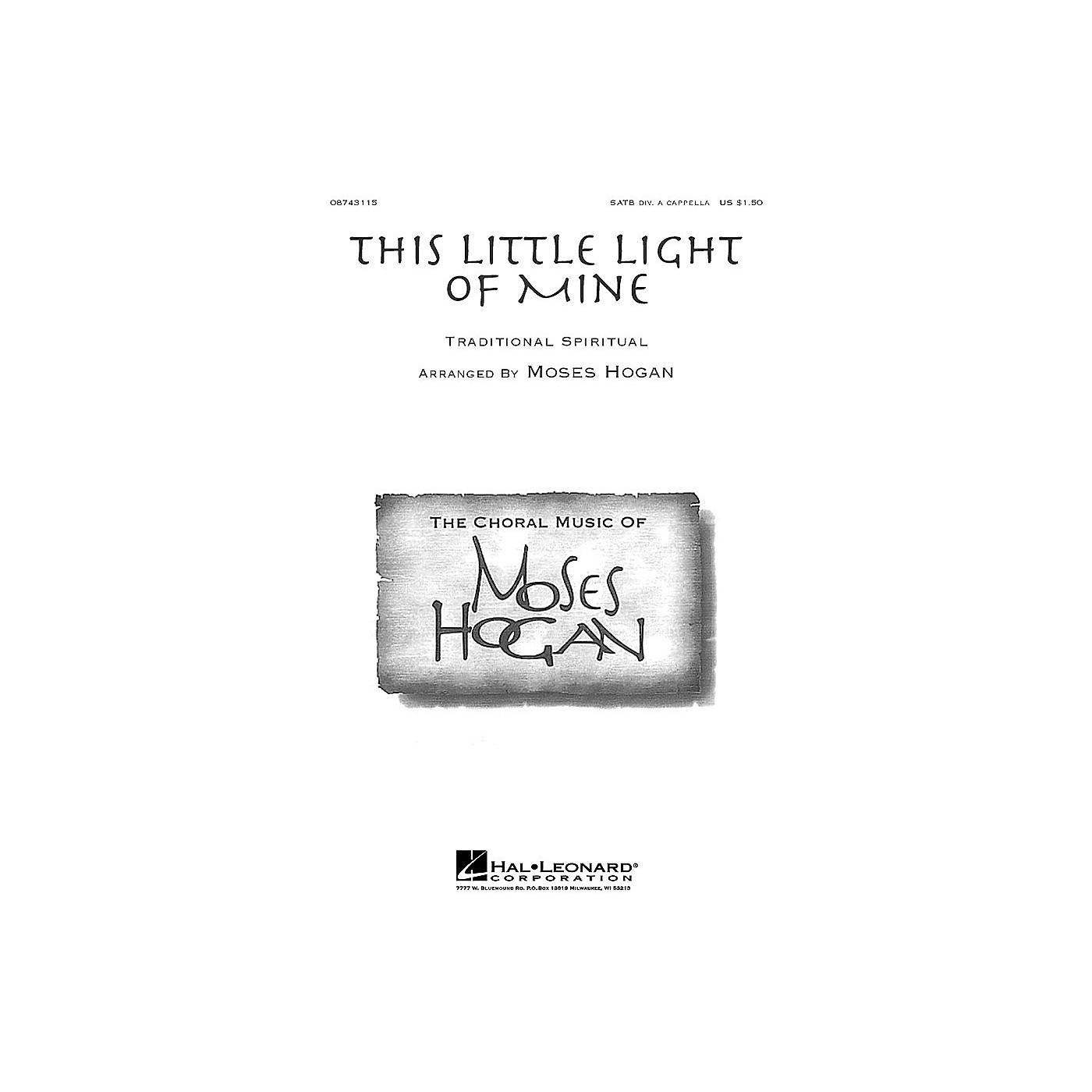 Hal Leonard This Little Light of Mine (SATB div.) SATB DV A Cappella arranged by Moses Hogan thumbnail
