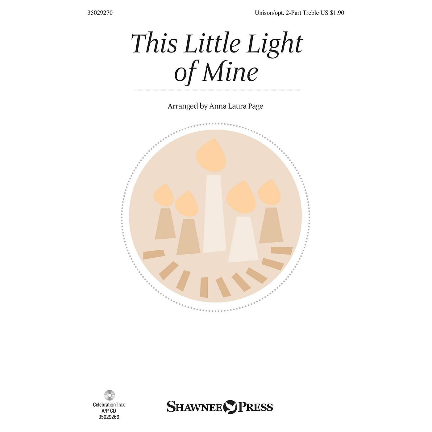 Shawnee Press This Little Light of Mine Unison/2-Part Treble arranged by Anna Laura Page thumbnail