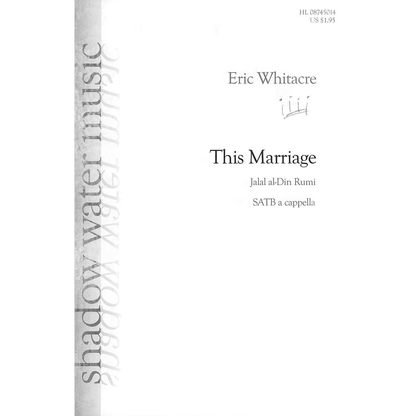 Shadow Water Music This Marriage SATB a cappella composed by Eric Whitacre thumbnail