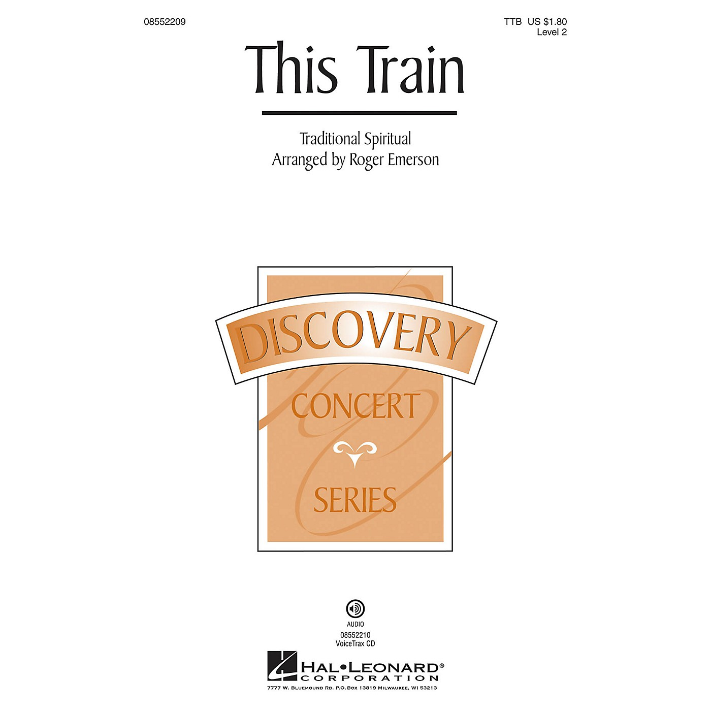 Hal Leonard This Train (Discovery Level 2) TTB arranged by Roger Emerson thumbnail