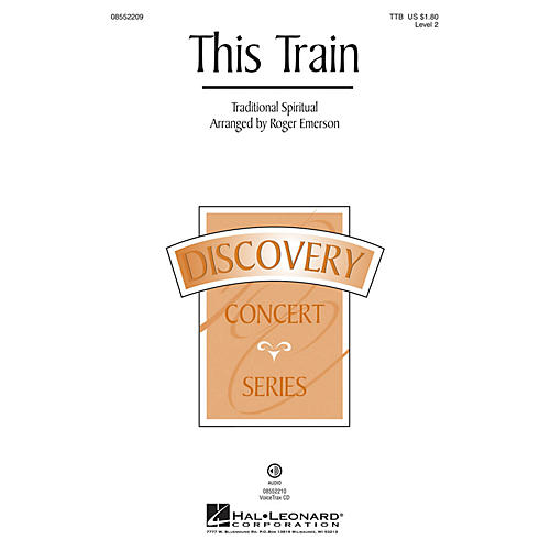 Hal Leonard This Train VoiceTrax CD Arranged by Roger Emerson thumbnail