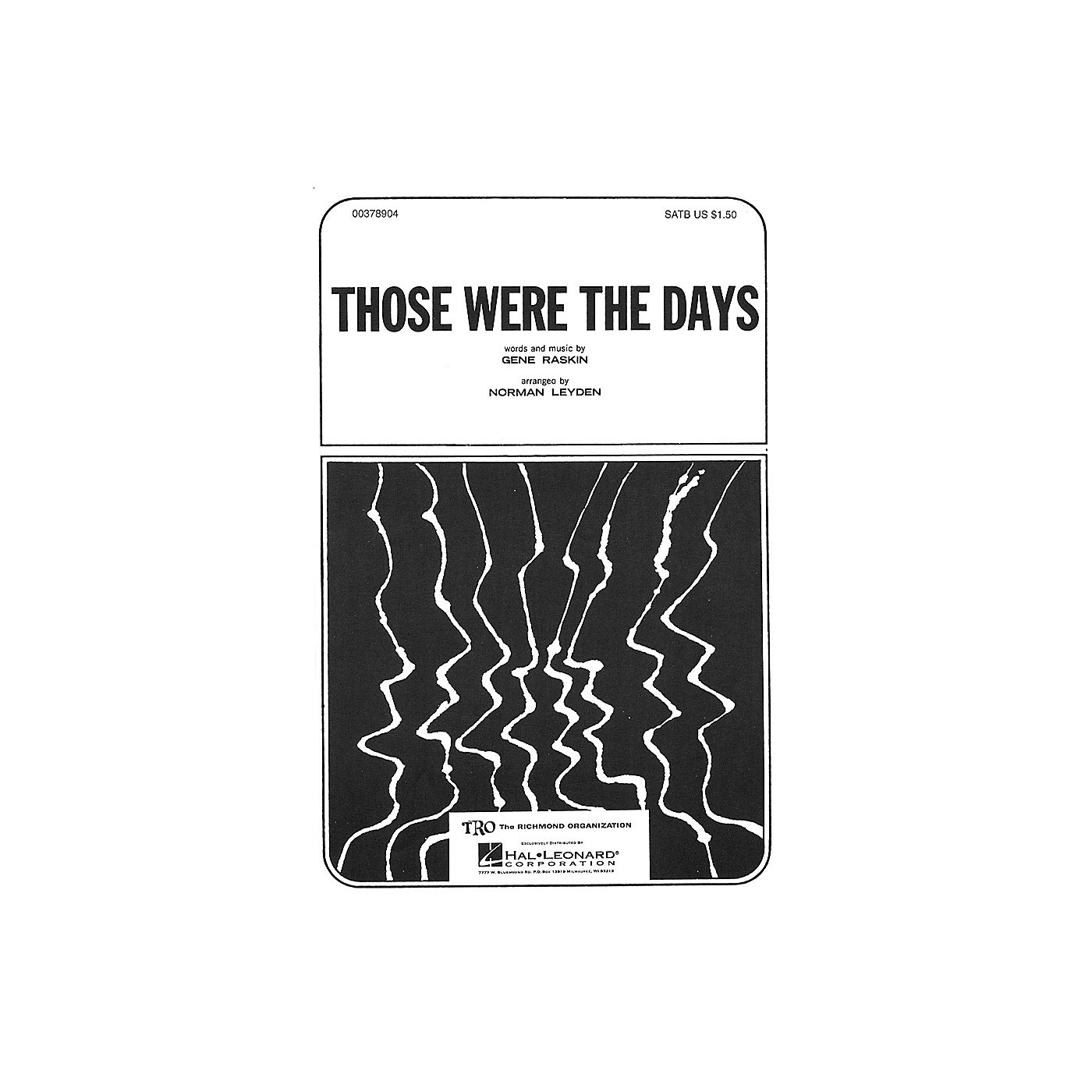 TRO ESSEX Music Group Those Were the Days (SATB) Arranged by Norman Leyden thumbnail