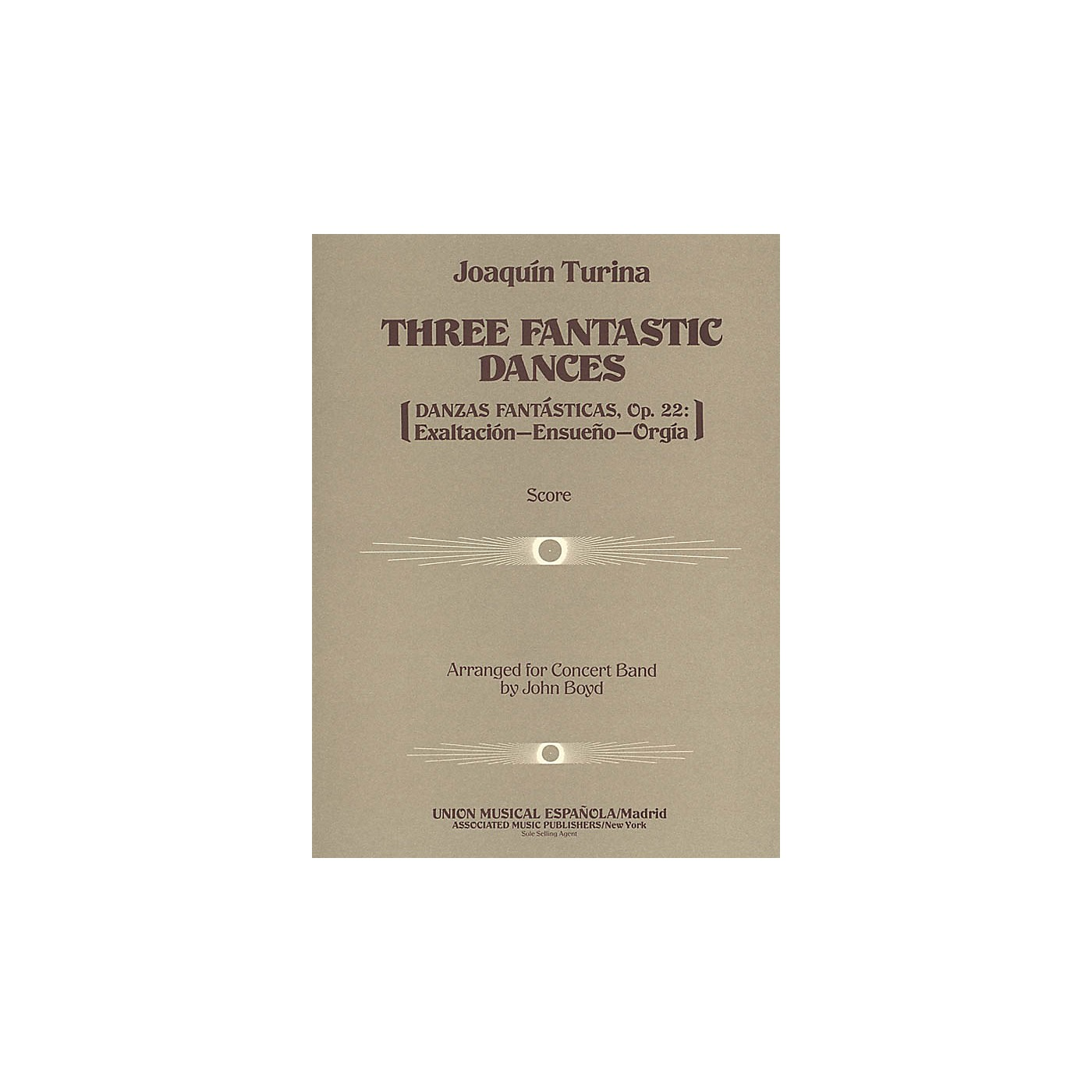 Associated Three (3) Fantastic Dances, Op. 22 (Full Score) Concert Band Composed by Joaquin Turina thumbnail