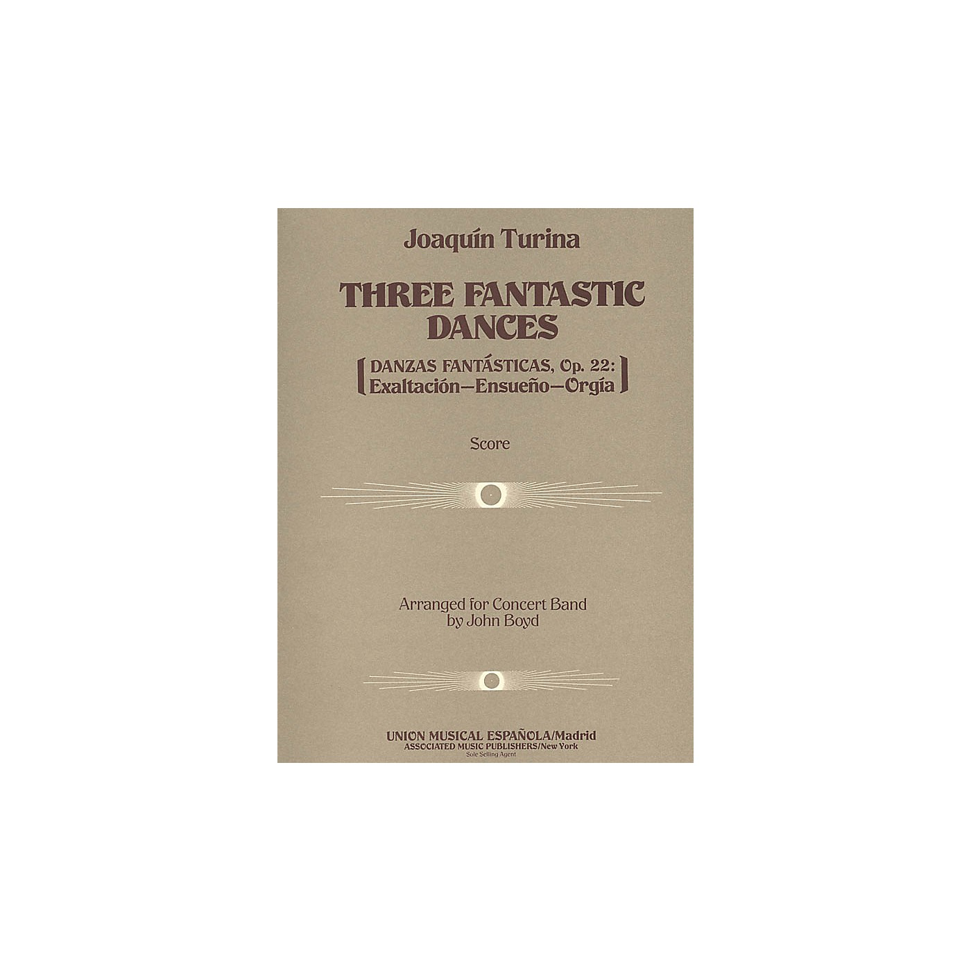 Associated Three (3) Fantastic Dances, Op. 22 (Score and Parts) Concert Band Level 4-5 Composed by Joaquin Turina thumbnail