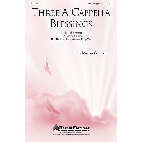 Shawnee Press Three A Cappella Blessings SATB a cappella composed by Marvin Gaspard thumbnail