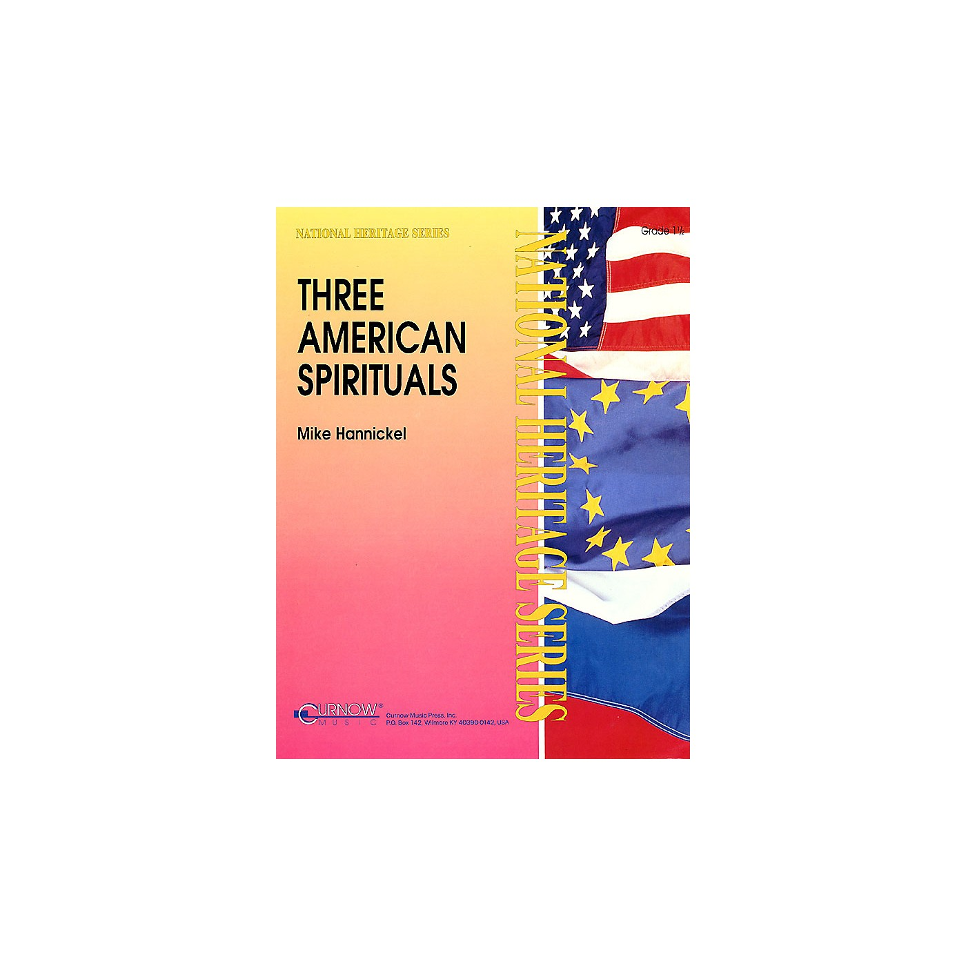 Curnow Music Three American Spirituals (Grade 1.5 - Score Only) Concert Band Level 1.5 Arranged by Mike Hannickel thumbnail