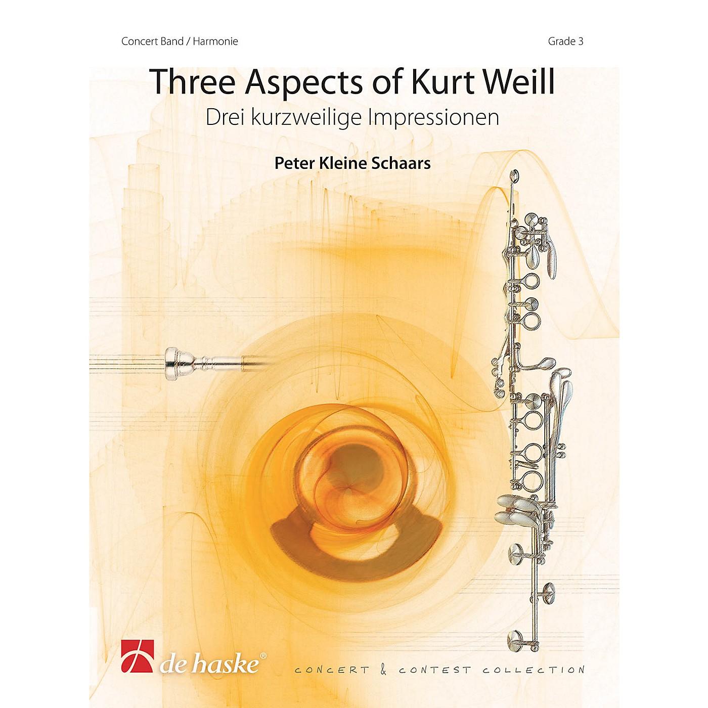De Haske Music Three Aspects of Kurt Weill Concert Band Level 3 Arranged by Peter Kleine Schaars thumbnail