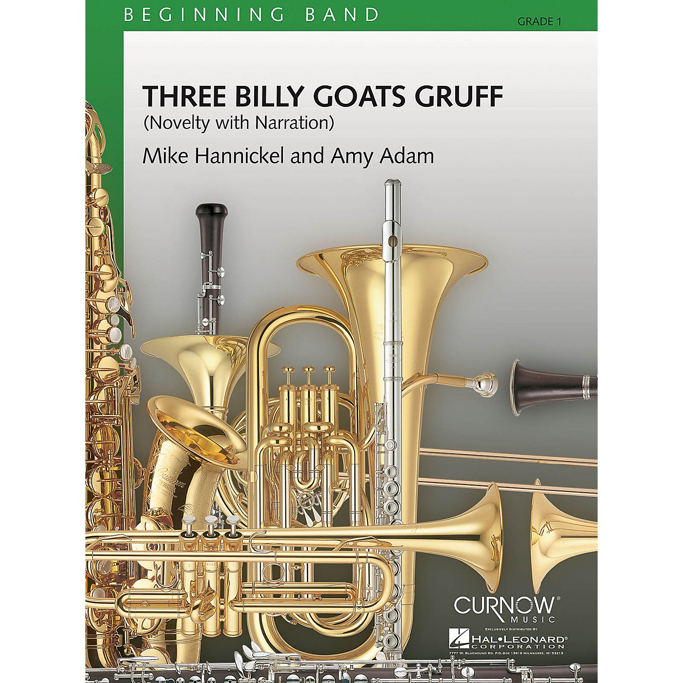 Curnow Music Three Billy Goats Gruff (Grade 1 - Score Only) Concert Band Level 1 Composed by Mike Hannickel thumbnail