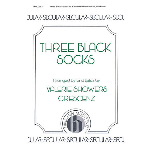 Hinshaw Music Three Black Socks UNIS composed by Valerie Crescenz thumbnail