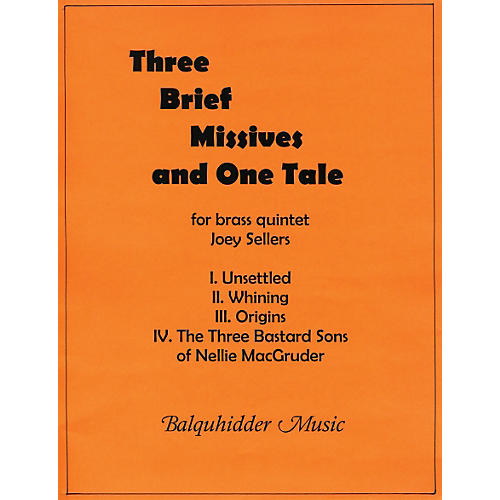 Carl Fischer Three Brief Missives Book thumbnail