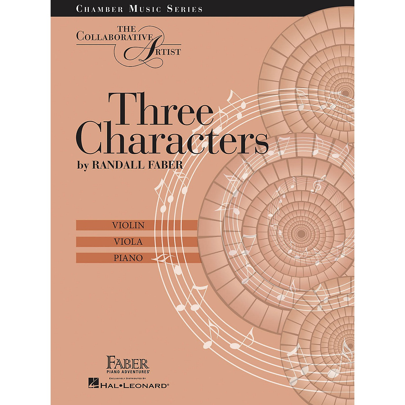 Faber Piano Adventures Three Characters - The Collaborative Artist Faber Piano Adventures by Randall Faber (Level Late Inter) thumbnail