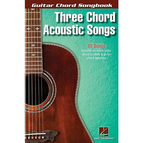 Hal Leonard Three Chord Acoustic Songs - Guitar Chord Songbook thumbnail