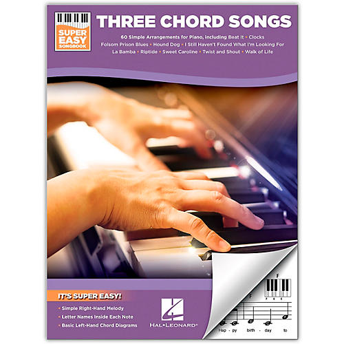 Hal Leonard Three Chord Songs - Super Easy Songbook for Easy Piano thumbnail