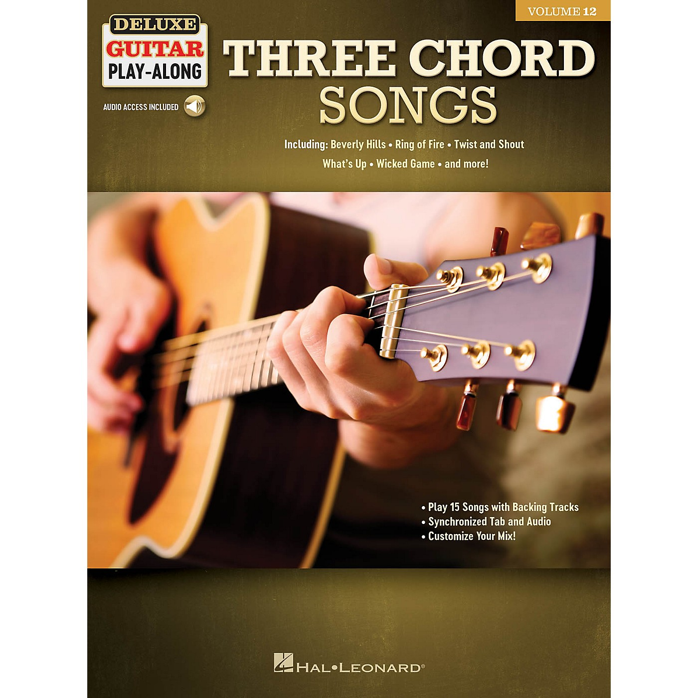 Hal Leonard Three Chord Songs Deluxe Guitar Play-Along Volume 12 Book/Audio Online thumbnail