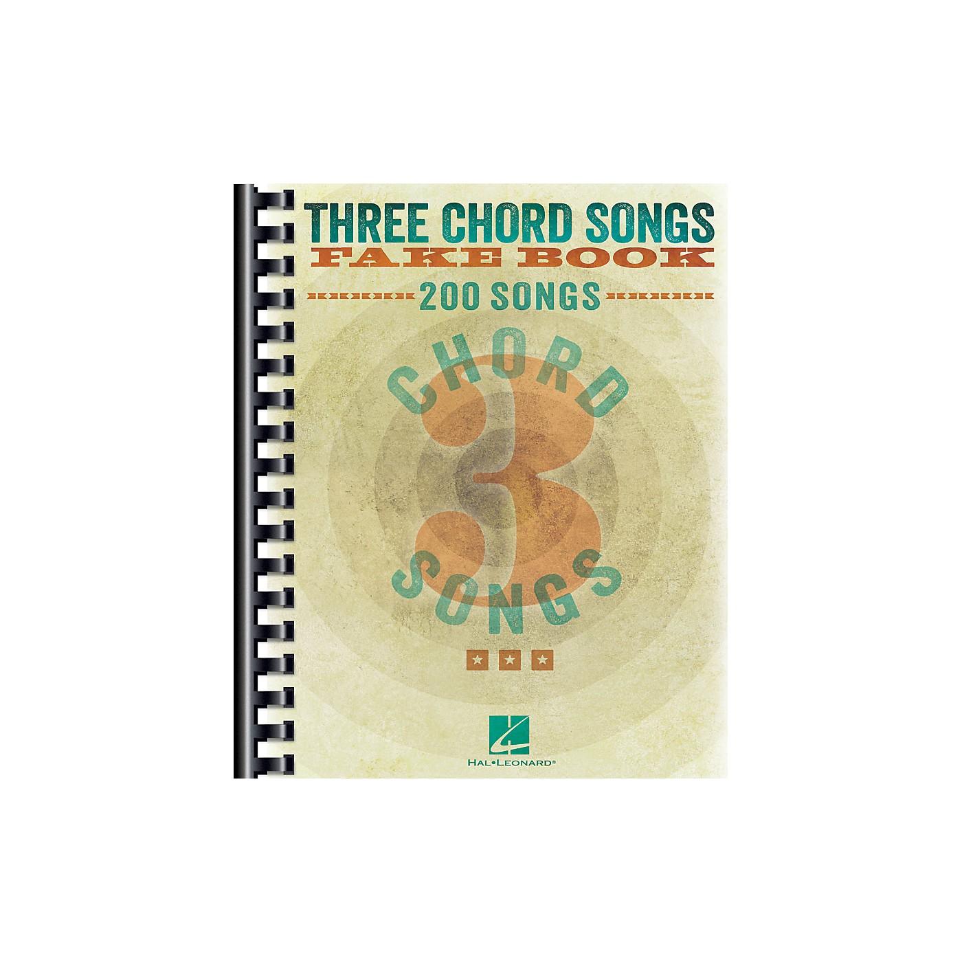 Hal Leonard Three Chord Songs Fake Book thumbnail