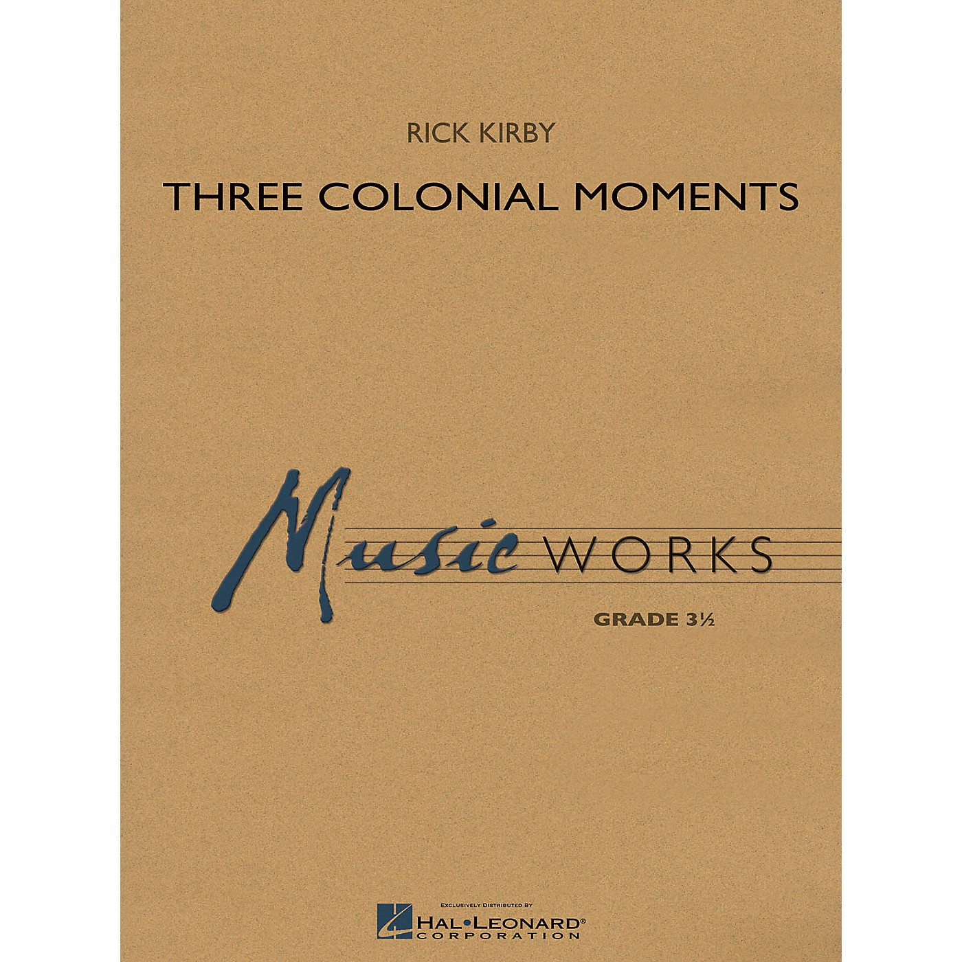 Hal Leonard Three Colonial Moments Concert Band Level 3 Composed by Rick Kirby thumbnail
