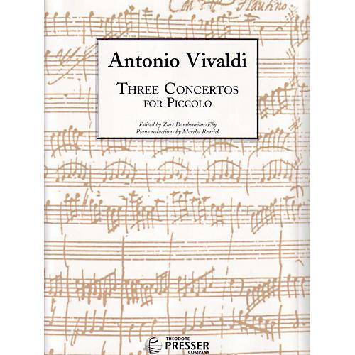Carl Fischer Three Concertos For Piccolo Book thumbnail