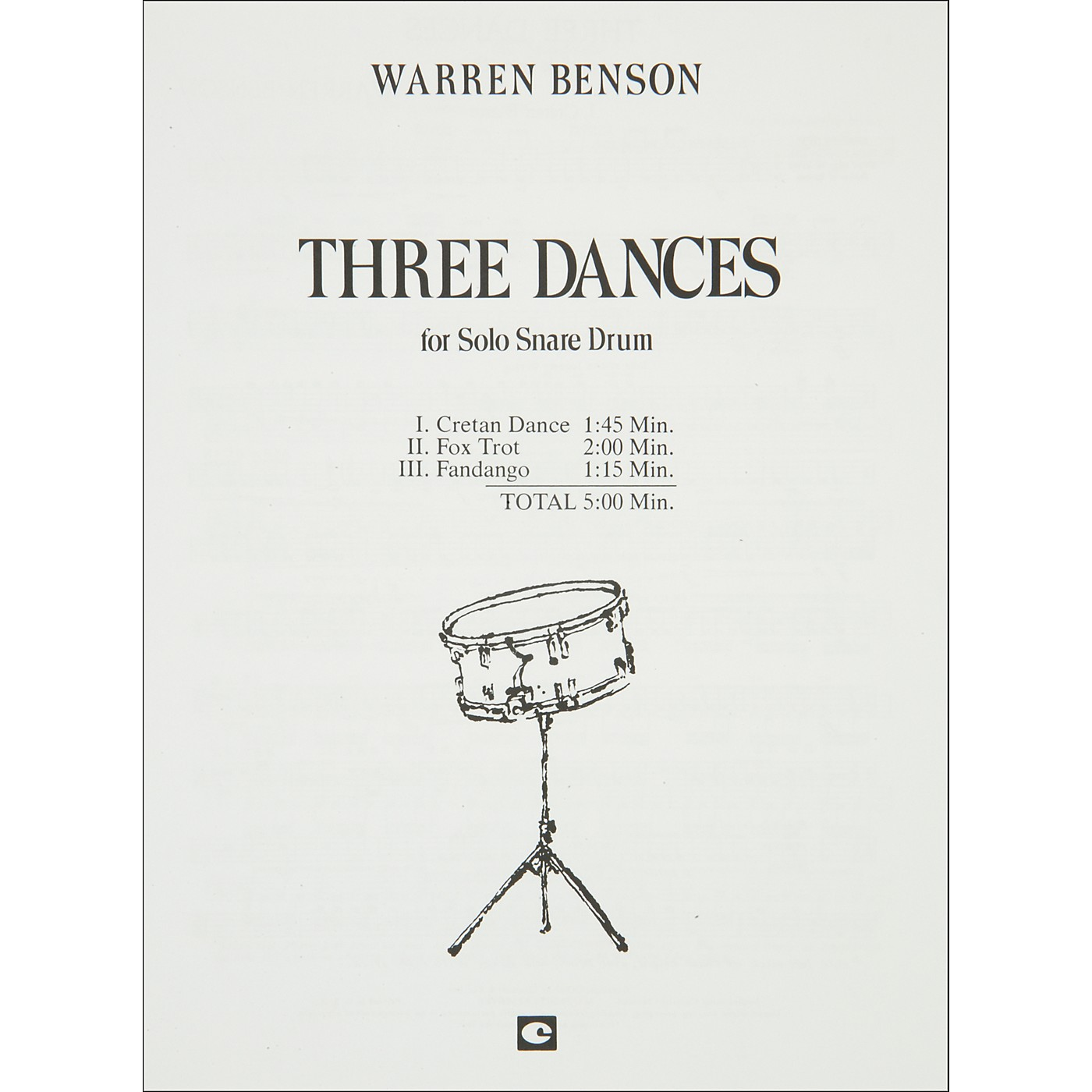 Hal Leonard Three Dances for Solo Snare Drum thumbnail